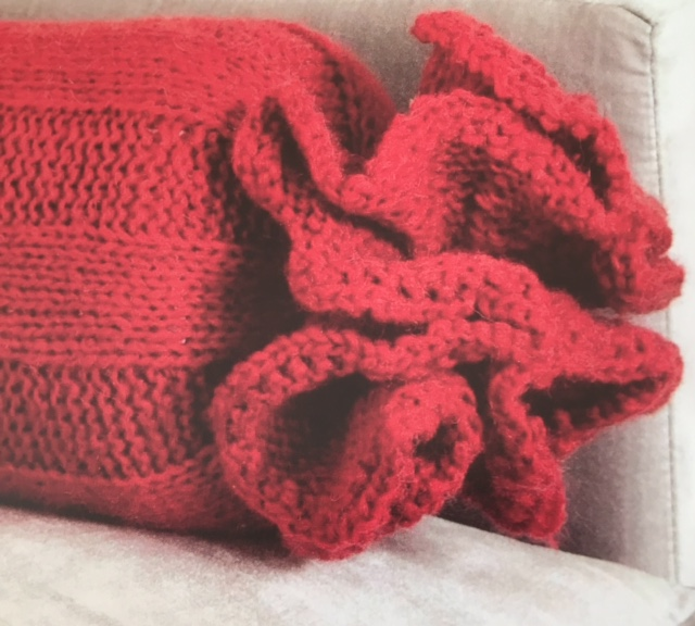 how to knit a cushion