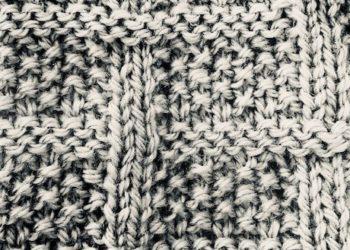 moss stitch blanket
