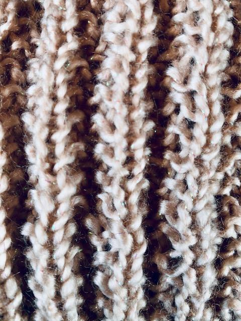 mock English rib knitting stitch