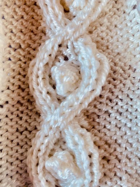 diamond and bobble knitting stitch