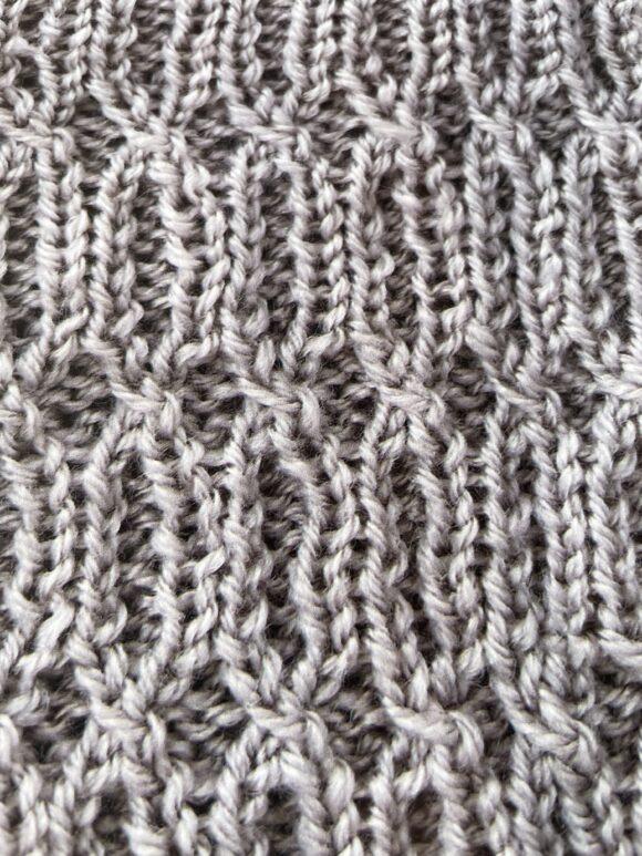 crossed rib stitch